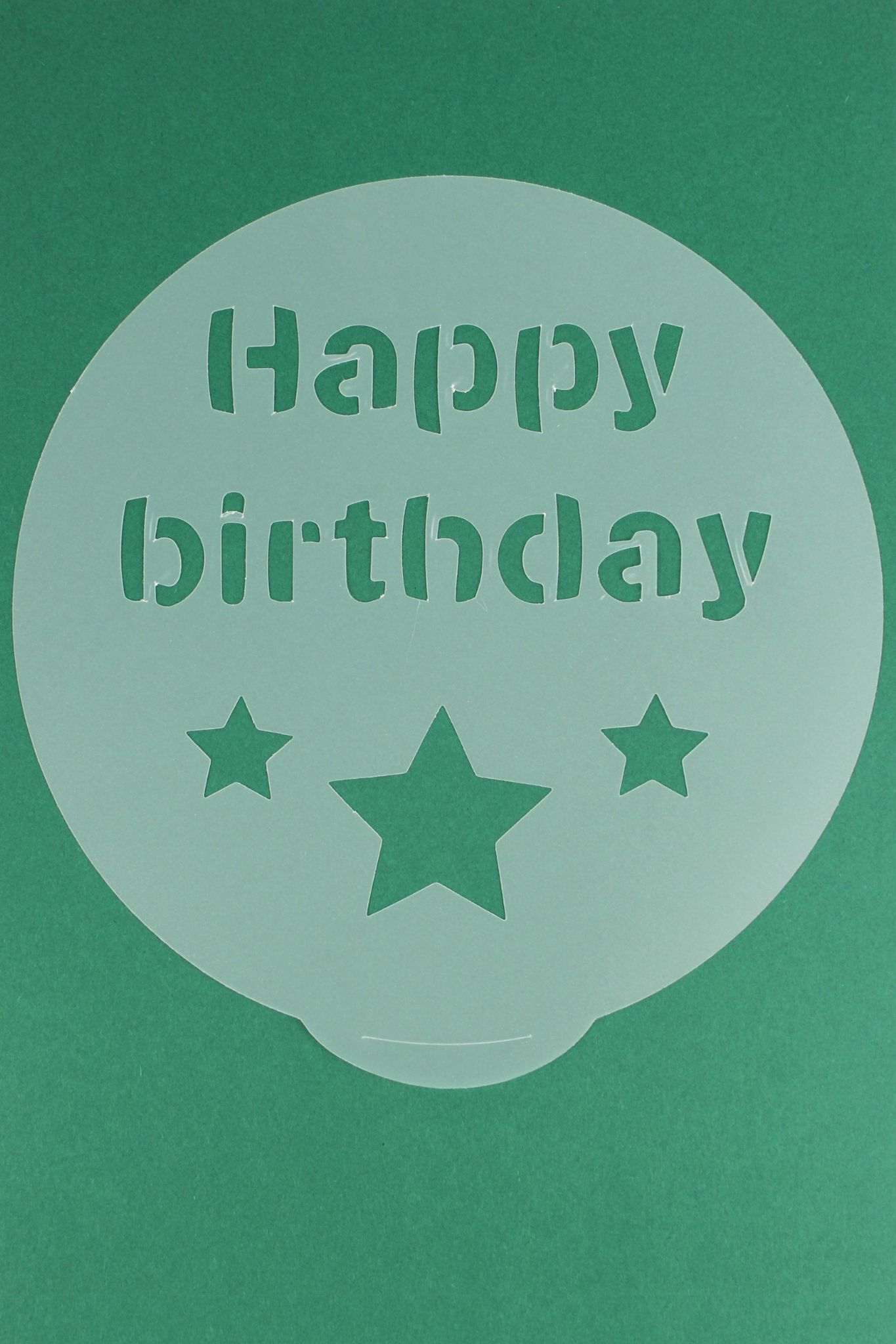 Round Cake Decorating Stencils Present Shooting Star And